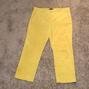 Burnt yellow corduroy ankle pant